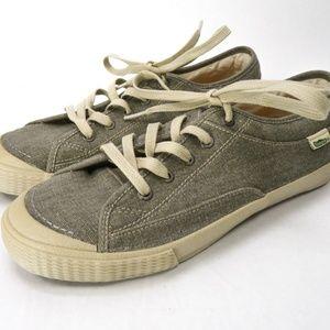 Simple Wingman Canvas Shoes Mens 7.5 Khaki Gray